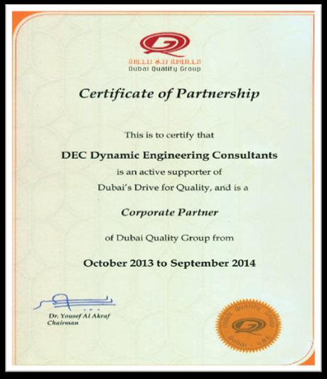 >Certificate of partnership - DEC